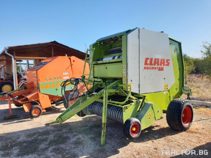 Сламопреси Claas Rollant 66 Мрежа+Сезал 1 - Трактор БГ